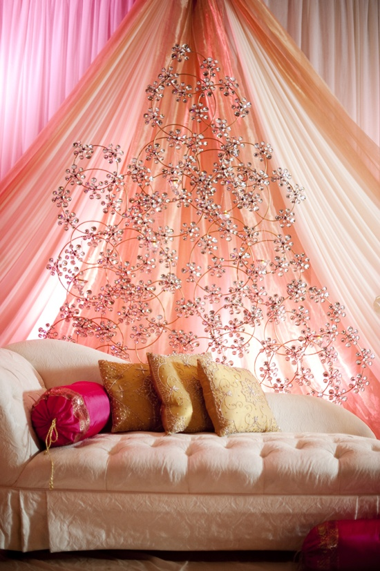 Floral metal backdrop - omg love this for mehndi