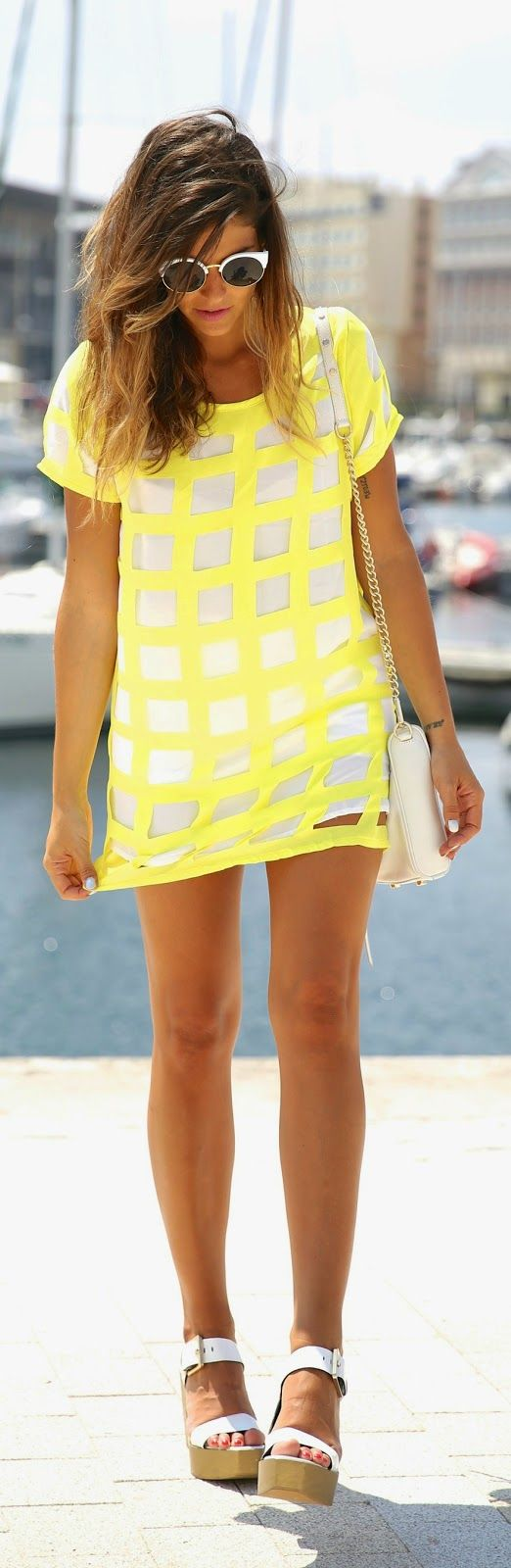 White + yellow.