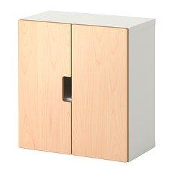 STUVA veggskap med dører, bjørk Bredde: 60 cm Dybde: 30 cm Høyde: 64 cm