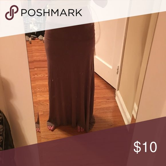 Brown maxi skirt! 2 cute brown maxi skirt ...fitted on top and flowy at bottom! 2 cute  Skirts Maxi