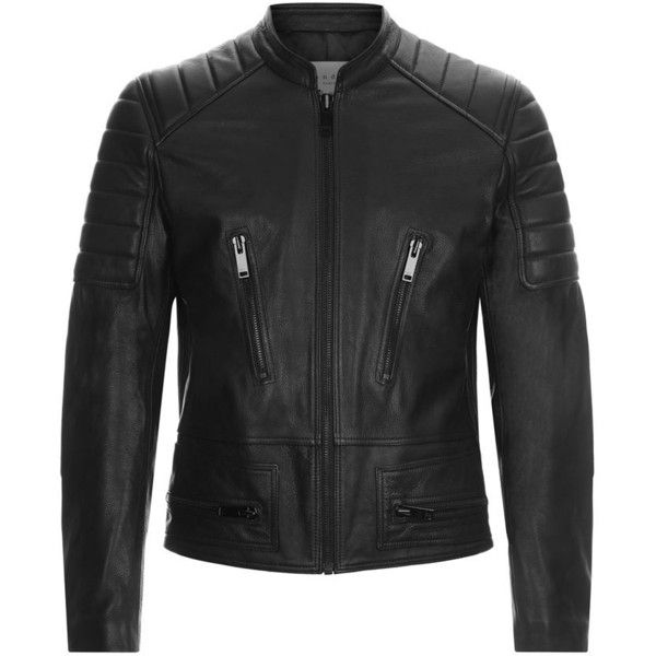 Sandro Speedway Leather Jacket (28.149.960 VND) ❤ liked on Polyvore featuring men's fashion, men's clothing, men's outerwear, men's jackets, jackets, men, leather jacket, men's jacket, mens jackets and mens zipper jacket