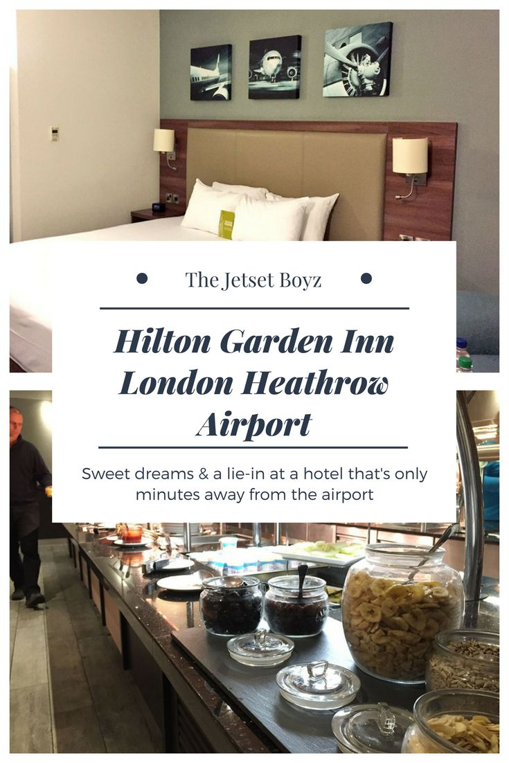 If you're on a morning flight and, like us, don't like a horrendously early start, a stay at an airport hotel is a great way of having longer in bed. Some 'airport hotels' are a schlep from the airport; the Hilton Garden Inn, London Heathrow is just minutes from the terminals.