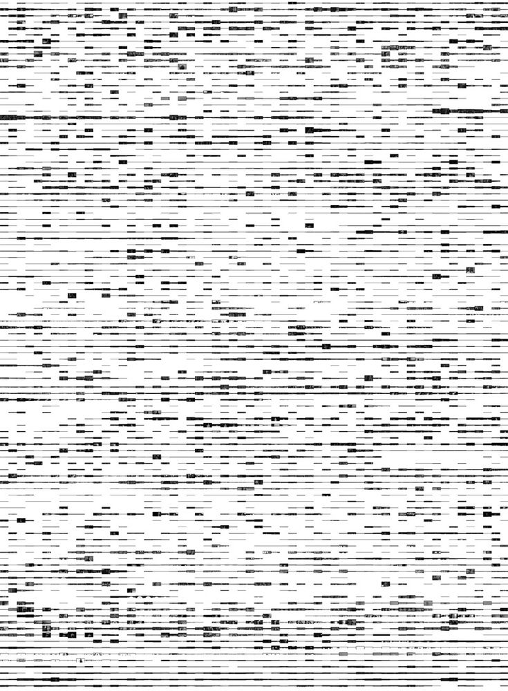 Nothing There by Brendan Dawes. For the movie The Man Who Wasn't There, the depth of each frame is dictated by the amount of sound present when that frame is placed onto the canvas. The result is a visual representation of the silences and pauses within the film. Created in 2004.