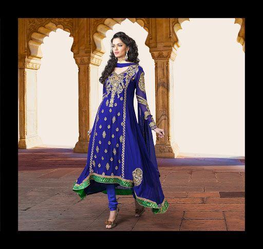 Divine Royal Blue Salwar Kameez | StylishKart.com