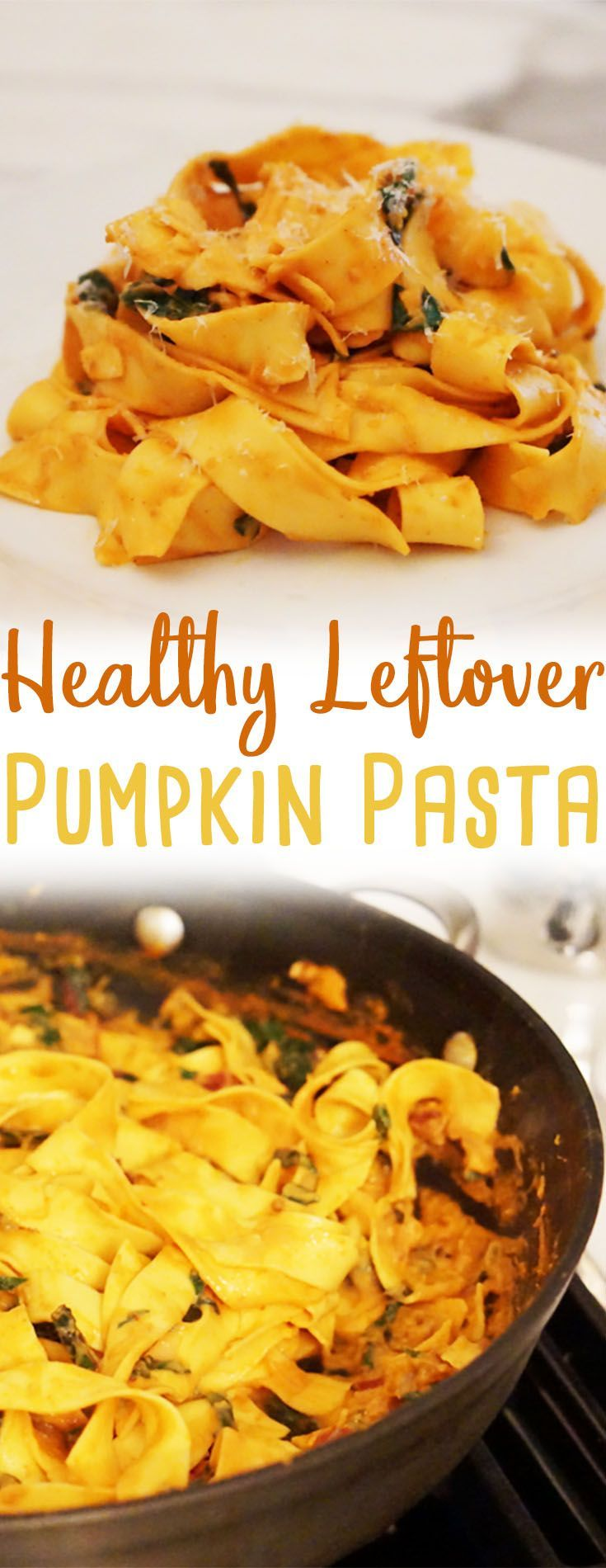 This healthy #pumpkin pasta with chipotle peppers is a great way to use up leftover canned pumpkin puree after the #holidays.