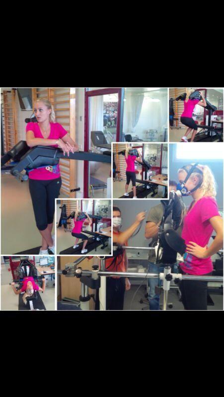Kristina Mladenovic - Twitter - Physical Test.