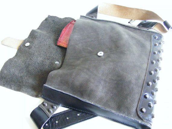 Bolso Hip. Tachonado bolsa de cinturón de Bag.Unisex de cadera
