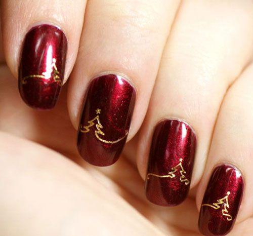 Capodanno 2016 Idee Nail Art Rossa