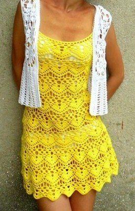 As Receitas de Crochê: Vestido de croche adullto