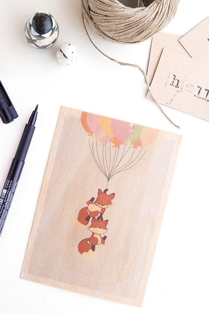 DIY - Réaliser un transfert sur cartes postale en bois + concours | Cartes, Diy et Faire une carte