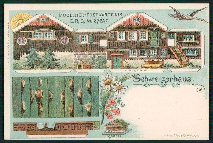 Germany Swiss Paper Doll House Fantasy Comic Original Old 1910s Postcard   eBay