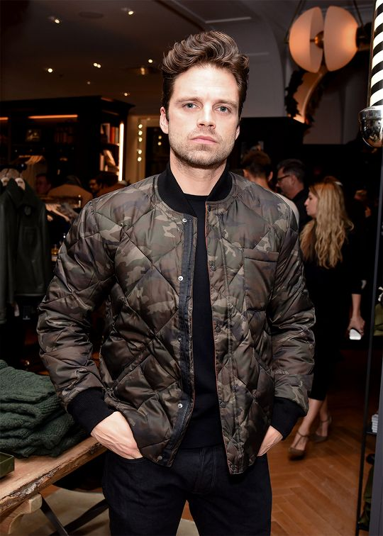 Sebastian Stan attends the Todd Snyder Madison Park store opening in New York on December 6, 2016.