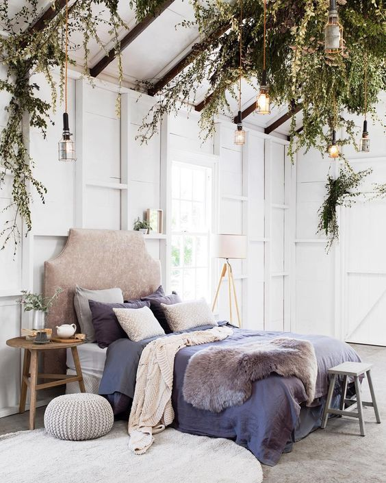 A gorgeous natural bedroom style                                                                                                                                                                                 More