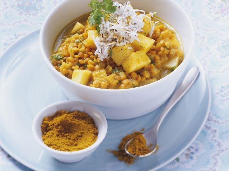 Linsen-Mango-Curry - smarter - Zeit: 30 Min. | eatsmarter.de Fruchtig exotisch!