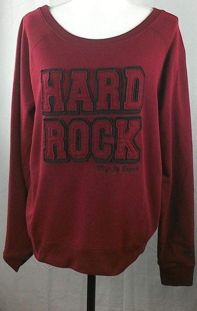 c23e9280b9e4 Hard Rock Cafe Women's XL Myrtle Beach Crewneck Sweater Cotton Polyester  #HardRockCafe #SweatshirtCrew