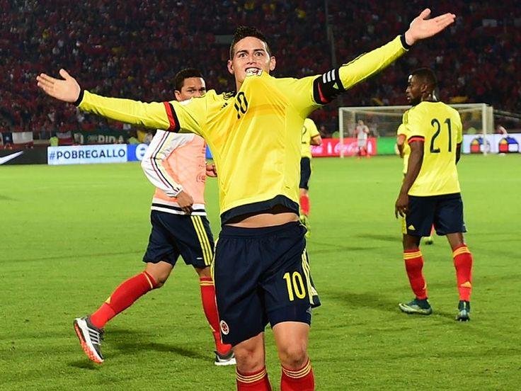 James jugó un partido de gran nivel y marcó el gol de su equipo.