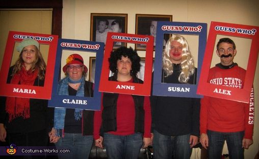 Guess Who Characters - Homemade costumes for groups