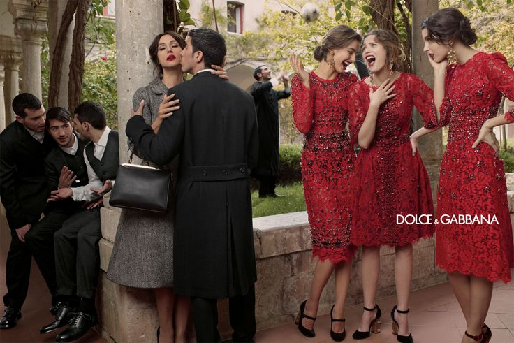 Loving the new Red! Dolce & Gabbana – Womenswear Advertising Campaign - Fall Winter 2014