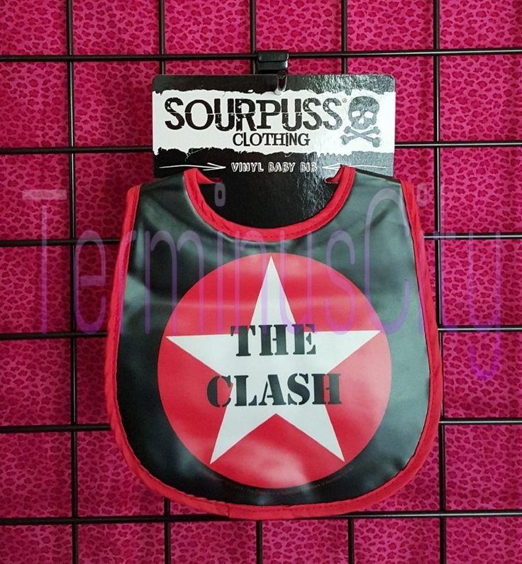#SOURPUSS #THECLASH #BABY #VINYL #BIB #Music #Kids #Toddler #Combat #Rock #JoeStrummer #Sourpuss