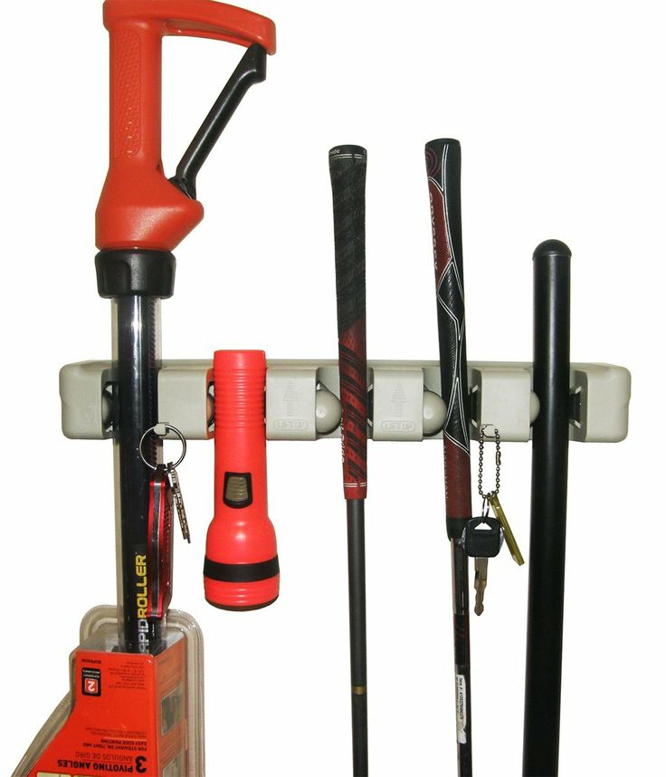 Broom holder garden tool organizer for Gardening tools organizer
