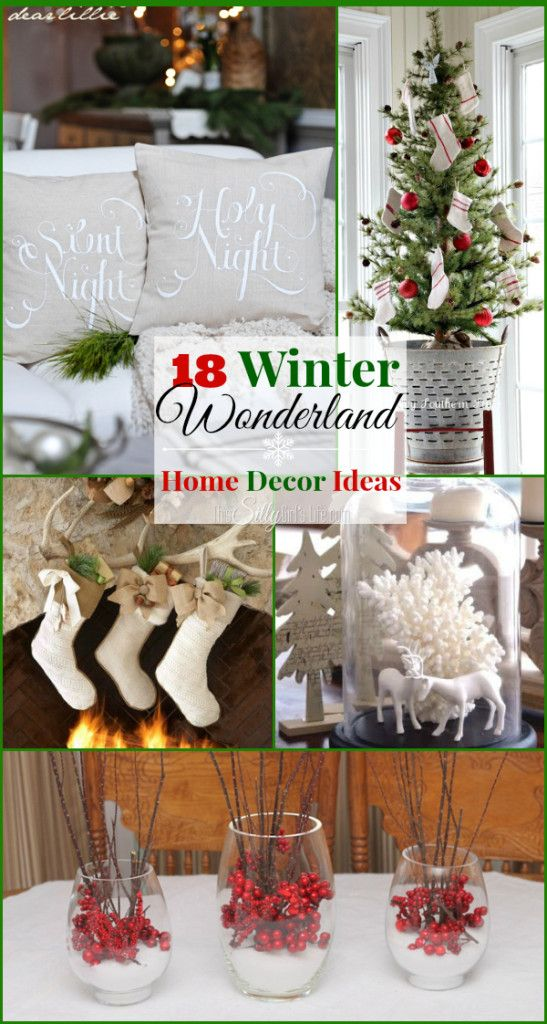 18 #Winter Wonderland Home Decor Ideas, a round up of beautiful easy to reproduce ideas for your winter home!