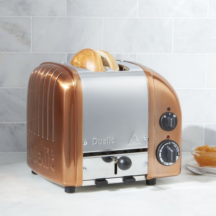 Dualit © 2-Slice Copper Toaster - Crate and Barrel