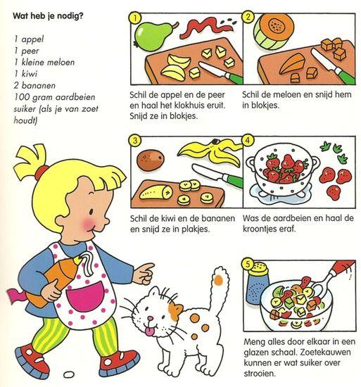 Koken met kleuters! | fruitsalade