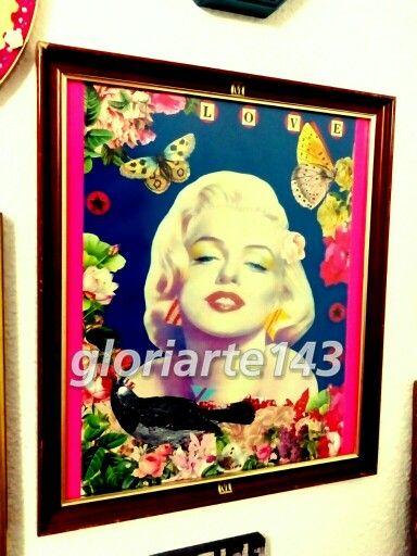 """Bella Marilyn"". Cuadro. Collage. Diy. (Gloriarte 143)"