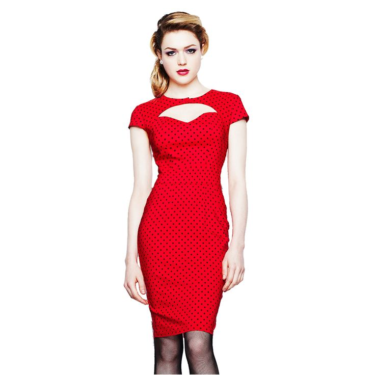 Kicky Red Work Dresses