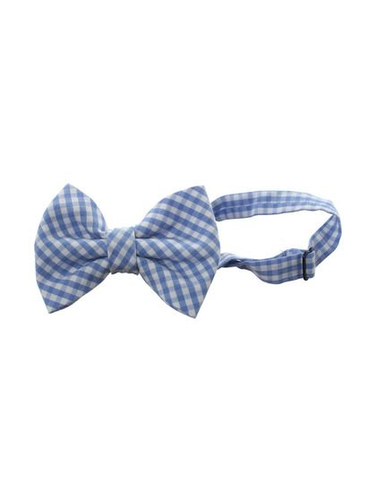 little gentleman. blue and white gingham bow tie.  boy's easter outfit ideas.