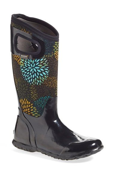 Bogs Winterberry High Rubber Boots Womens Blue Multi Factory Outlet