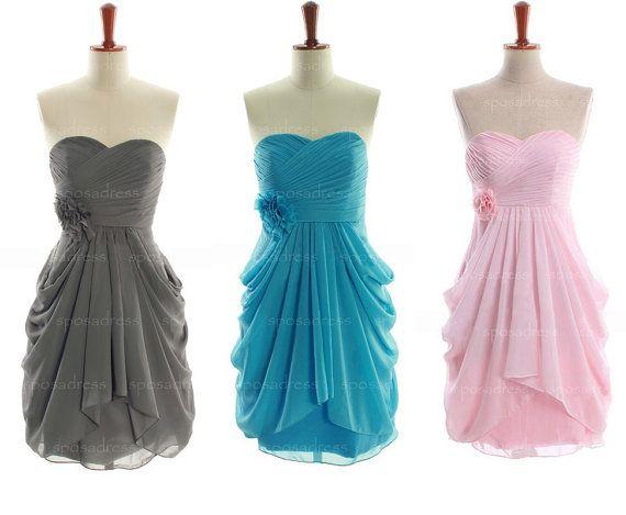 2014 bridesmaid dress chiffon bridesmaid dress short by sposadress, $89.00