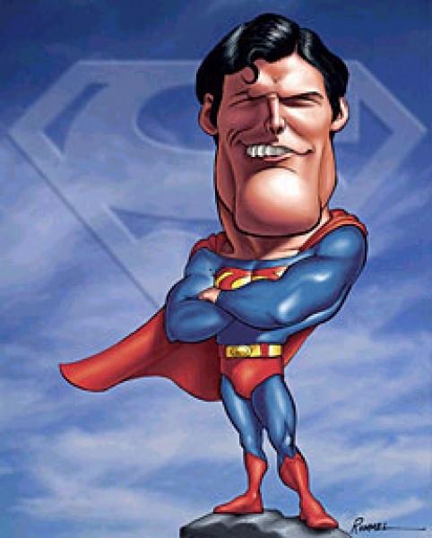 Наступающим, картинки прикол супермен