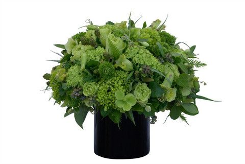 Green, green and more green! Our super shades of monochromatic greens are just perfect in this flower arrangement.