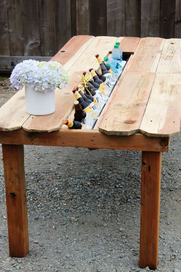 Table With Drink Trough 15 Best Diy Cedar Outdoor Table With Built In Wine Beer Cooler