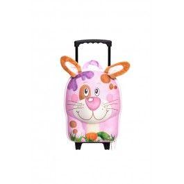 Leuke konijnen kindertrolley. perfect om mee te nemen op reis.