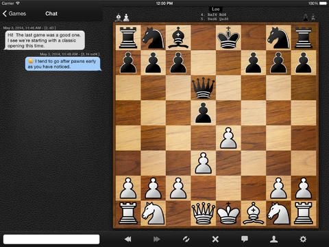 Chess - SocialChess. After test a lot of chess apps... I finally found this one. It's great to play chess with your friends. You can chat inside the app. Great!! #iOSApps #iPad