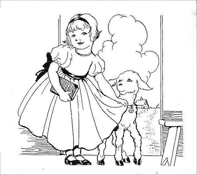 Little Lamb Ministry Coloring Pages