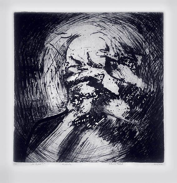 'What's up?' / intaglio / etching / by Justyna Hajduk