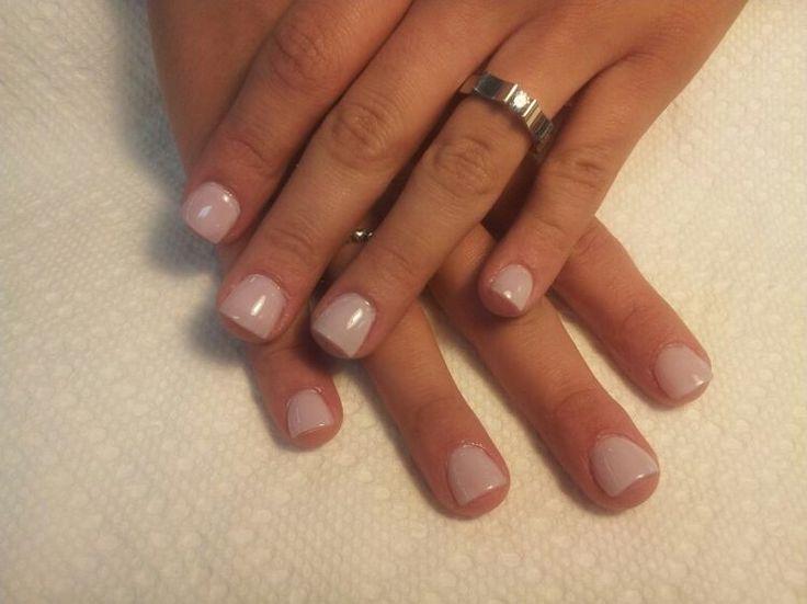 Short nails, natural looking and pretty nail polish