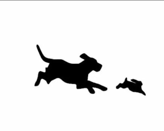 Beagle Hunting Rabbit Decal Hunting Decal Hunting Sticker