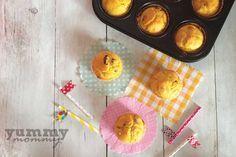 Muffins με φέτα και ελιές με καλαμποκάλευρο