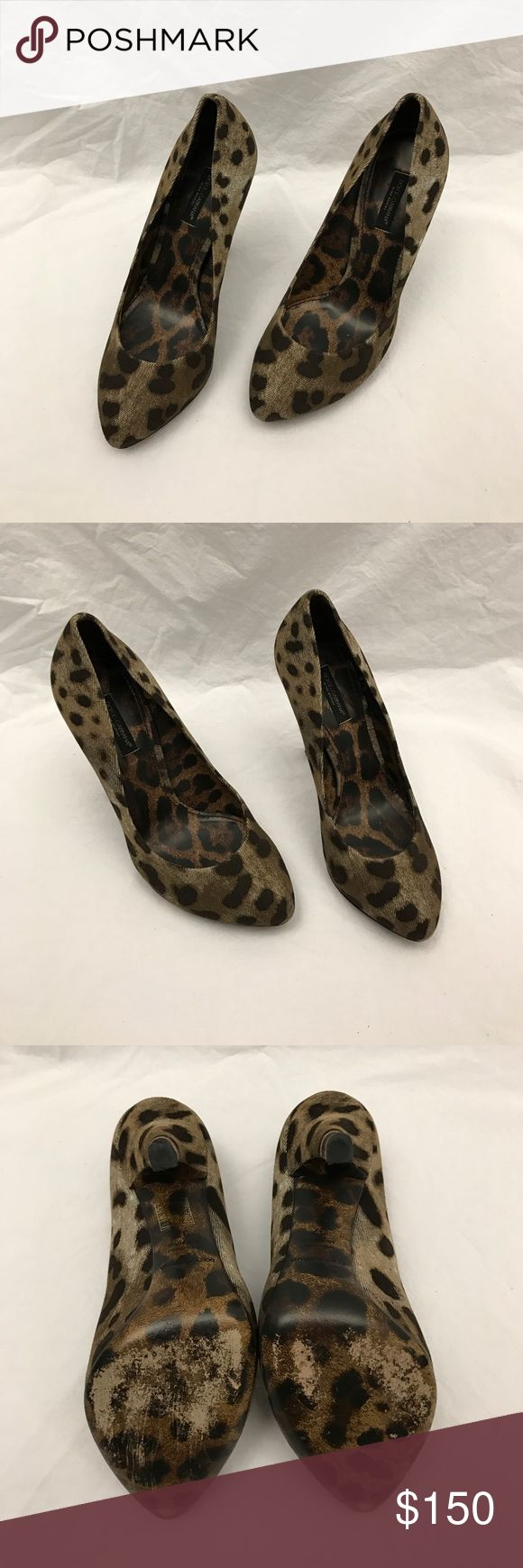 Dolce & Gabbana Leopard Heels Great condition D&G leopard heels. 100% Authentic! Dolce & Gabbana Shoes Heels