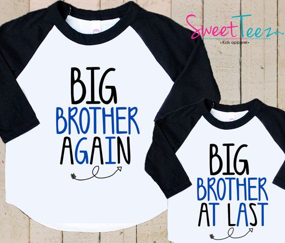 Big brother Again Shirt Set Big Brother At Last by SweetTeezLLC