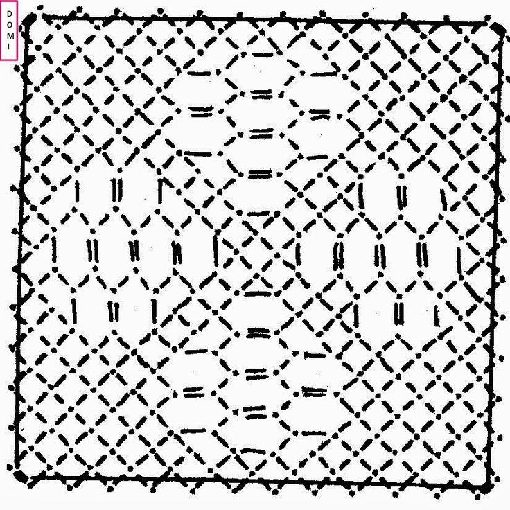 C'est un fond Drochel sur fond torchon qui permet de réaliser le carré n° 12.          Si vous réalisez un ouvrage avec les cartons proposé...