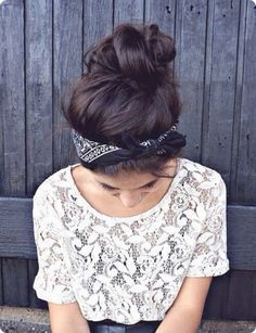 Lenço na cabeça! Inspirações e ideias para usar lenço no verão.