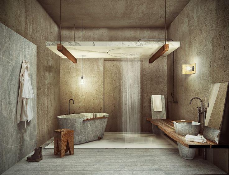 Bagno pietra ~ Oltre fantastiche idee su stanza da bagno in pietra su