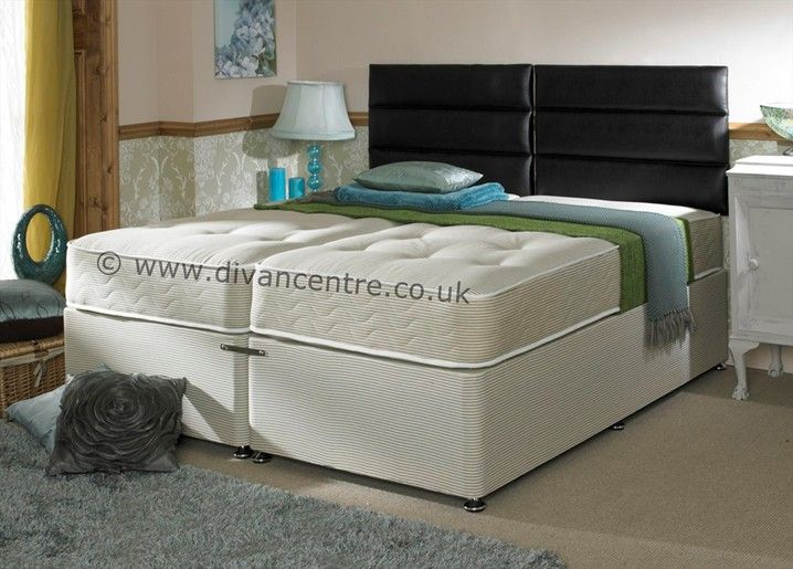 Hotel Contract Pocket 1000 5ft King Size Zip and Link Divan Bed