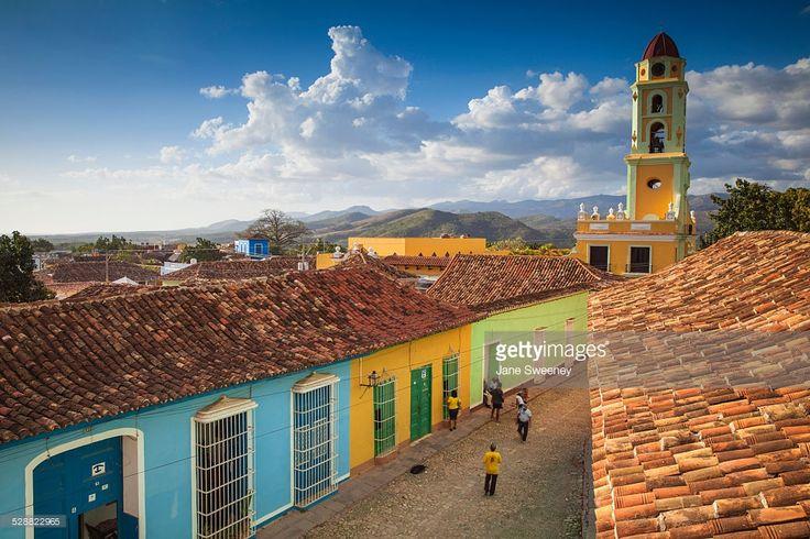 Foto de stock : Cuba, Trinidad, View of Museum National de la Lucha Contra Bandidos