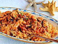 Couscous di pesce con frutti di mare surgelati